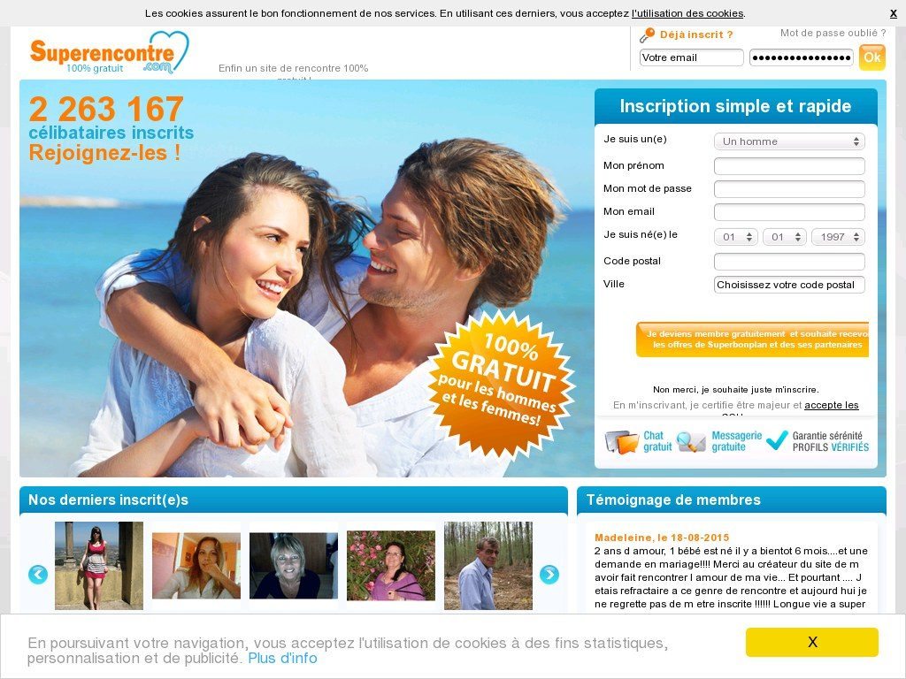 site d rencontre totalement gratuit site de discussion gratuite